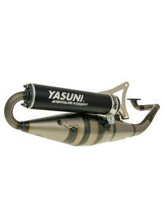 Auspuff Yasuni Scooter Z schwarz für Minarelli liegend
