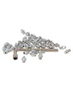 n8tive Ersatz Pin Set Stahl M4x4 40 Stück spitz - silber