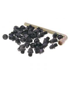 n8tive Ersatz Pin Set Stahl M4x4 40 Stück spitz - schwarz