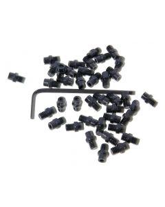n8tive Ersatz Pin Set Stahl M4x4 40 Stück flach - schwarz