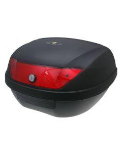 Top Case Koffer schwarz 51L / Reflektor rot
