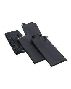 Seitenwand Polyester schwarz wasserdicht - Set mit 4 Stück (je 3x2,15m)