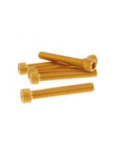 Schraubensatz 6 Stück Innensechskant Alu gold - M8x50