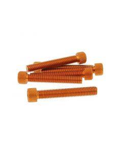Schraubensatz 6 Stück Innensechskant Alu orange - M8x50