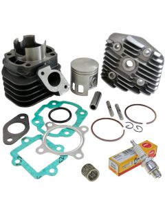 Zylinder Kit 70ccm + Zündkerze NGK B8HS + Nadellager 2-Takt China Motor (1E40QMB) 12mm