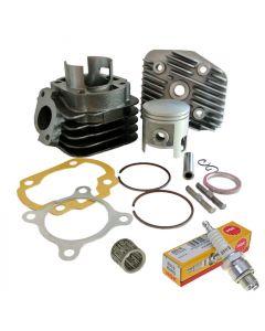 Zylinder Kit 70ccm + Zündkerze NGK B8HS + Nadellager Minarelli AC liegend 10mm