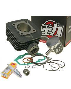 Zylinder Kit 70ccm NARAKU + Nadellager + Zündkerze NGK Peugeot liegend AC