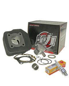 Zylinder Kit 50ccm NARAKU + NGK Zündkerze B7HS + Nadellager Peugeot stehend AC