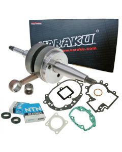 Kurbelwelle NARAKU + Lagerset NTN + Dichtsatz für Peugeot liegend AC mit Halbmond