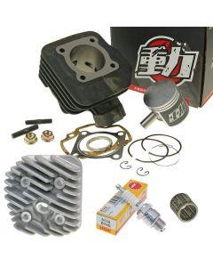 Zylinder Kit 70ccm NARAKU + Zylinderkopf Peugeot stehend AC Buxy Elyseo Elystar Speedfight AC...