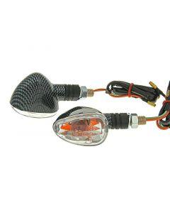 Blinker Set M10 Carbon-Look Doozy klar, kurz