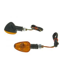 Blinker Set M10 schwarz Doozy orange, kurz
