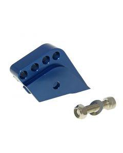 Höherlegungssatz CNC 4-Loch blau für Peugeot stehend