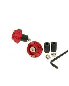 Lenkerende Vibrationsdämpfer Flat 13,5 / 17,5mm - rot